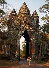One of the four great gates of Angkor Thom