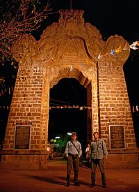 "At this gate the climbing to the ""Sri Pada"" begins"