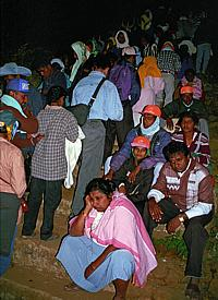 "Pilgrims on the way to the top of ""Adam's Peak"""
